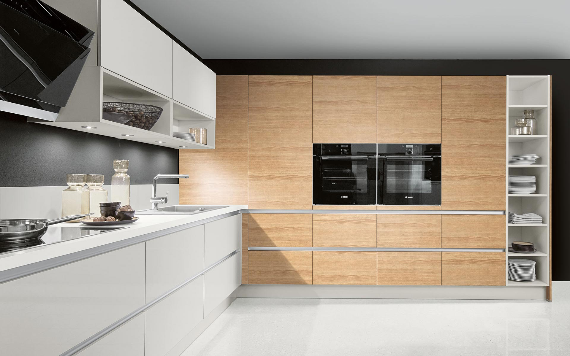 Toronto: Kitchens from Germany, Europe. Calm H Hell • Luce Grigio