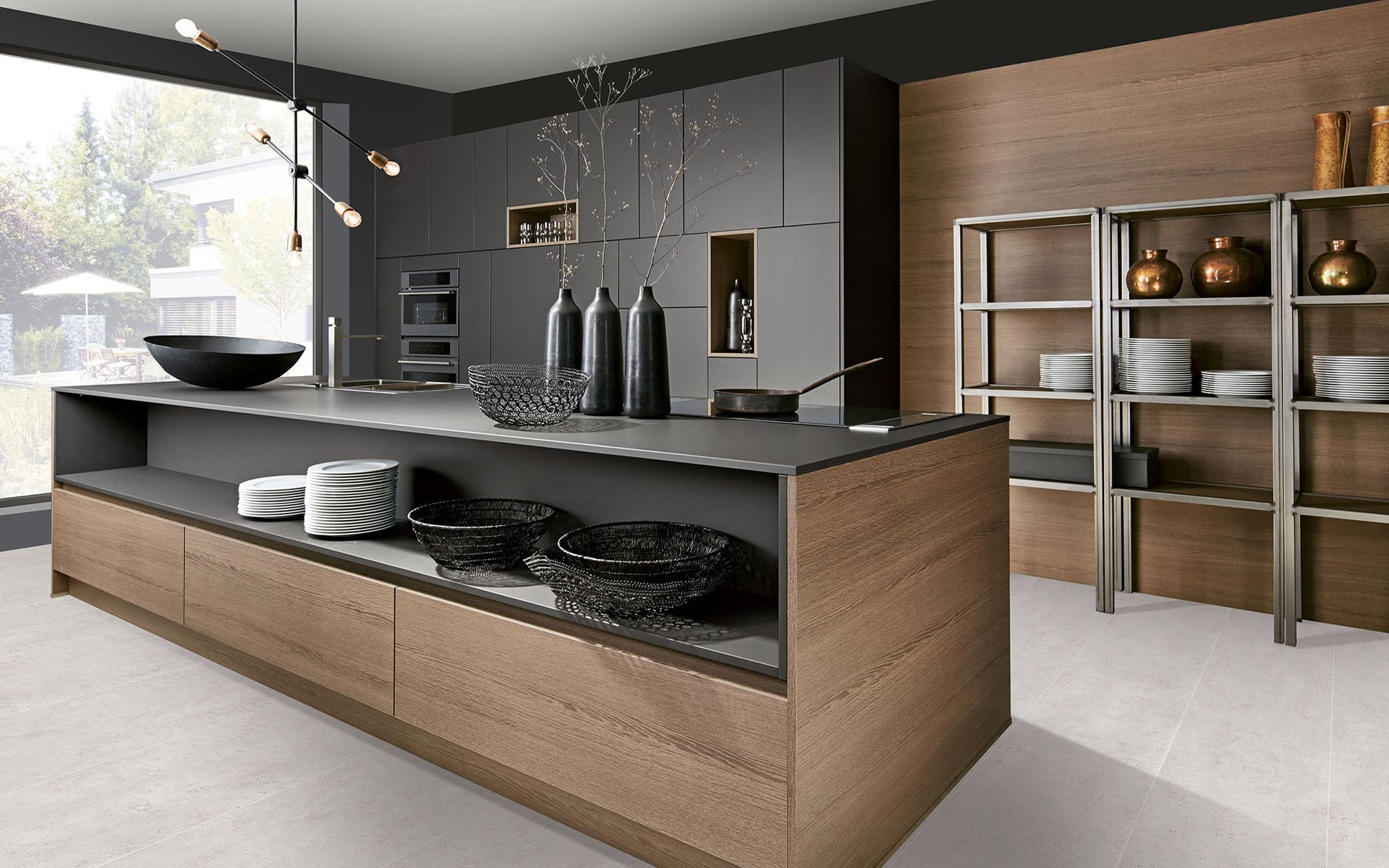 Toronto: Kitchens from Germany, Europe. Calm H Mittel • Extrem Graphit