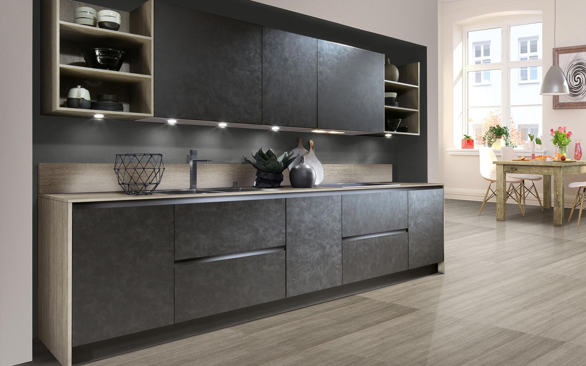 Toronto: Kitchens from Germany, Europe. Cemento Basalt Dunkel