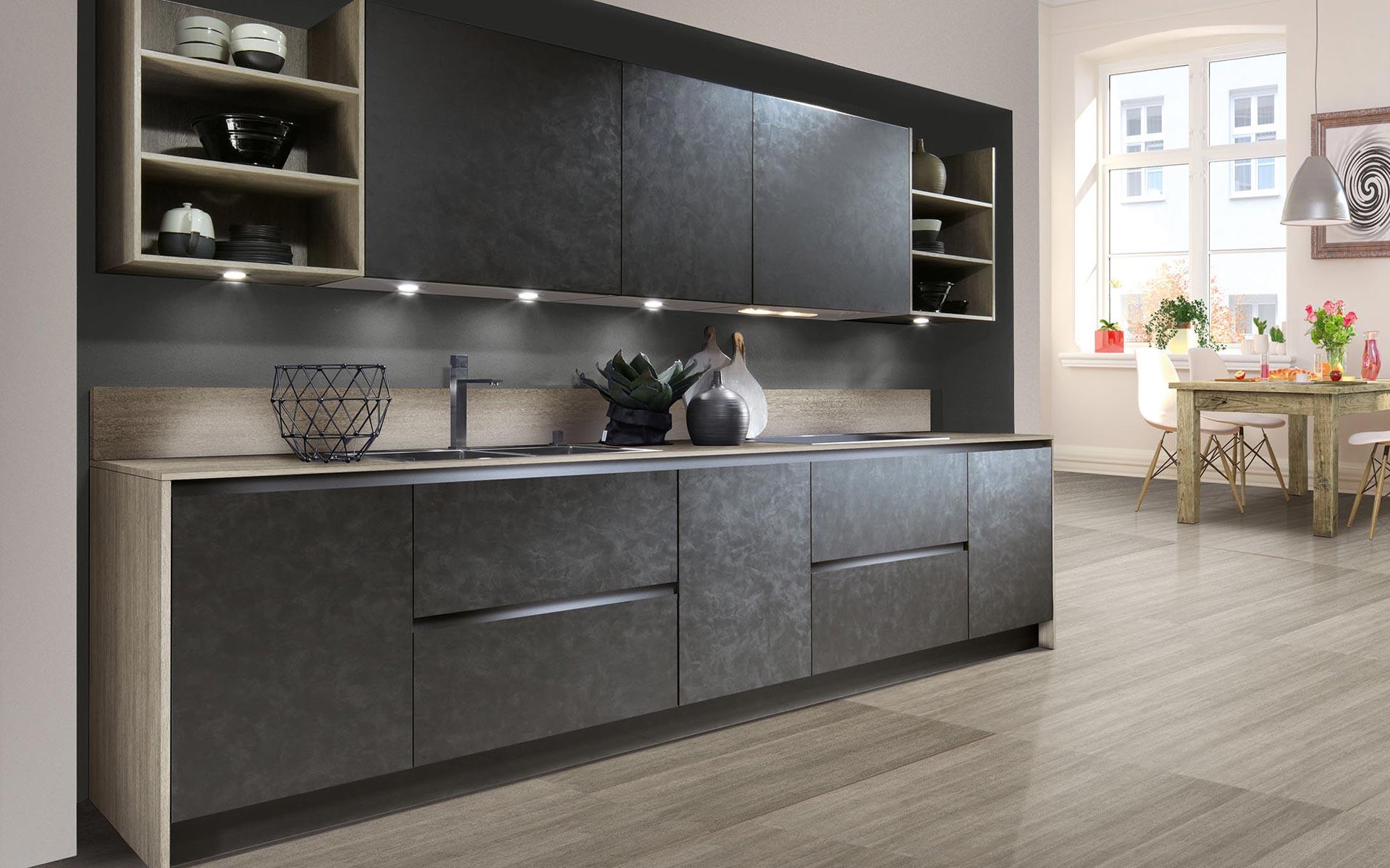 Toronto: Kitchens from Germany, Europe. Cemento Basalt Dunkel