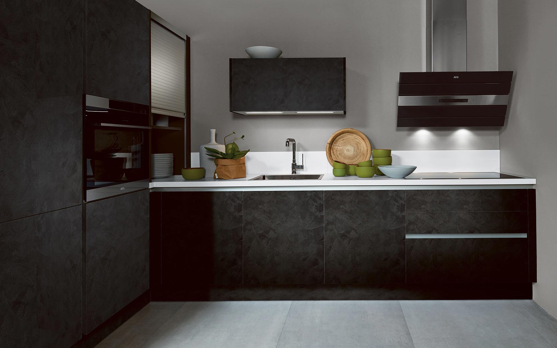 Toronto: Kitchens from Germany, Europe. Cemento Black