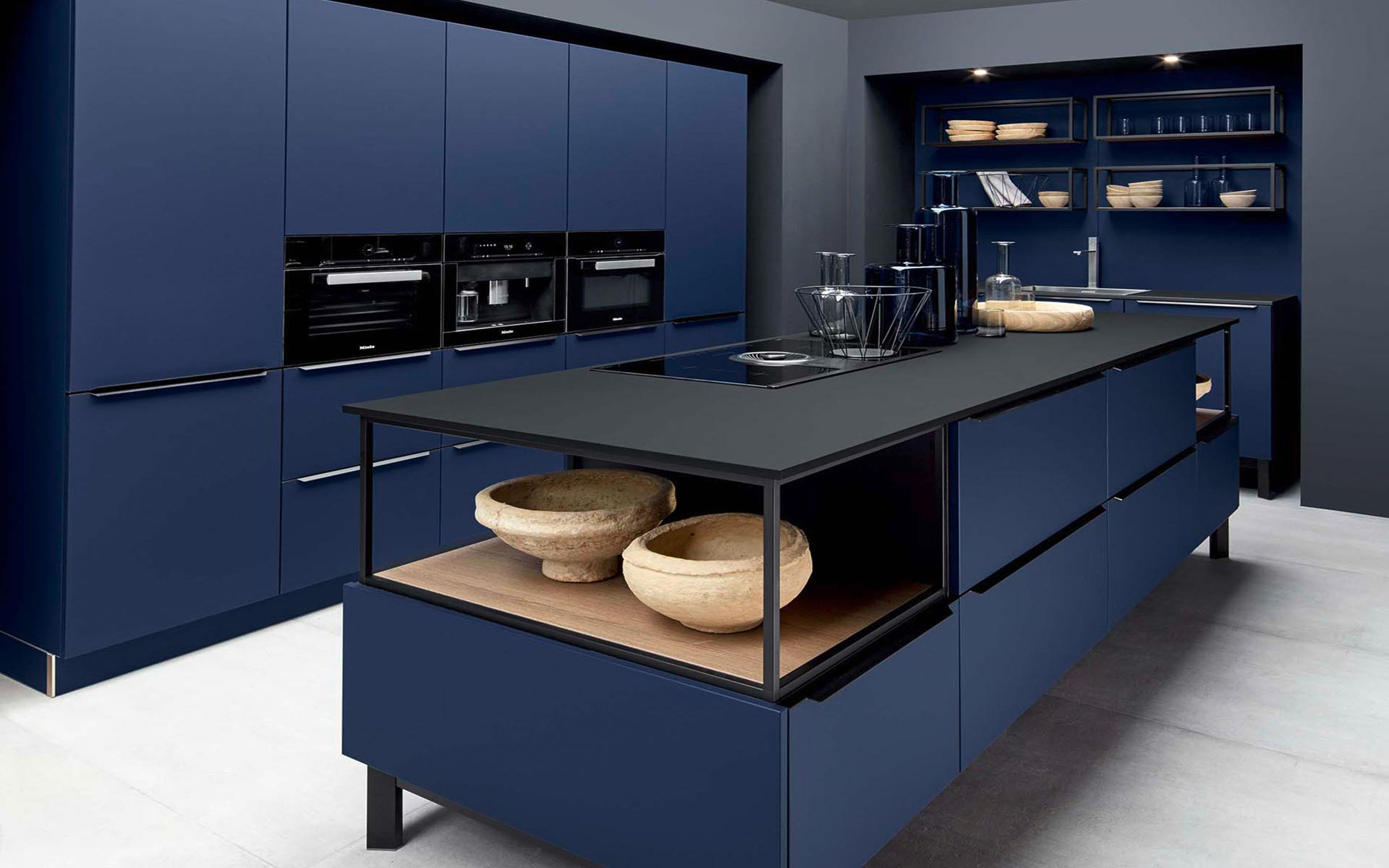 Toronto: Kitchens from Germany, Europe. Fenix Midnight Blue