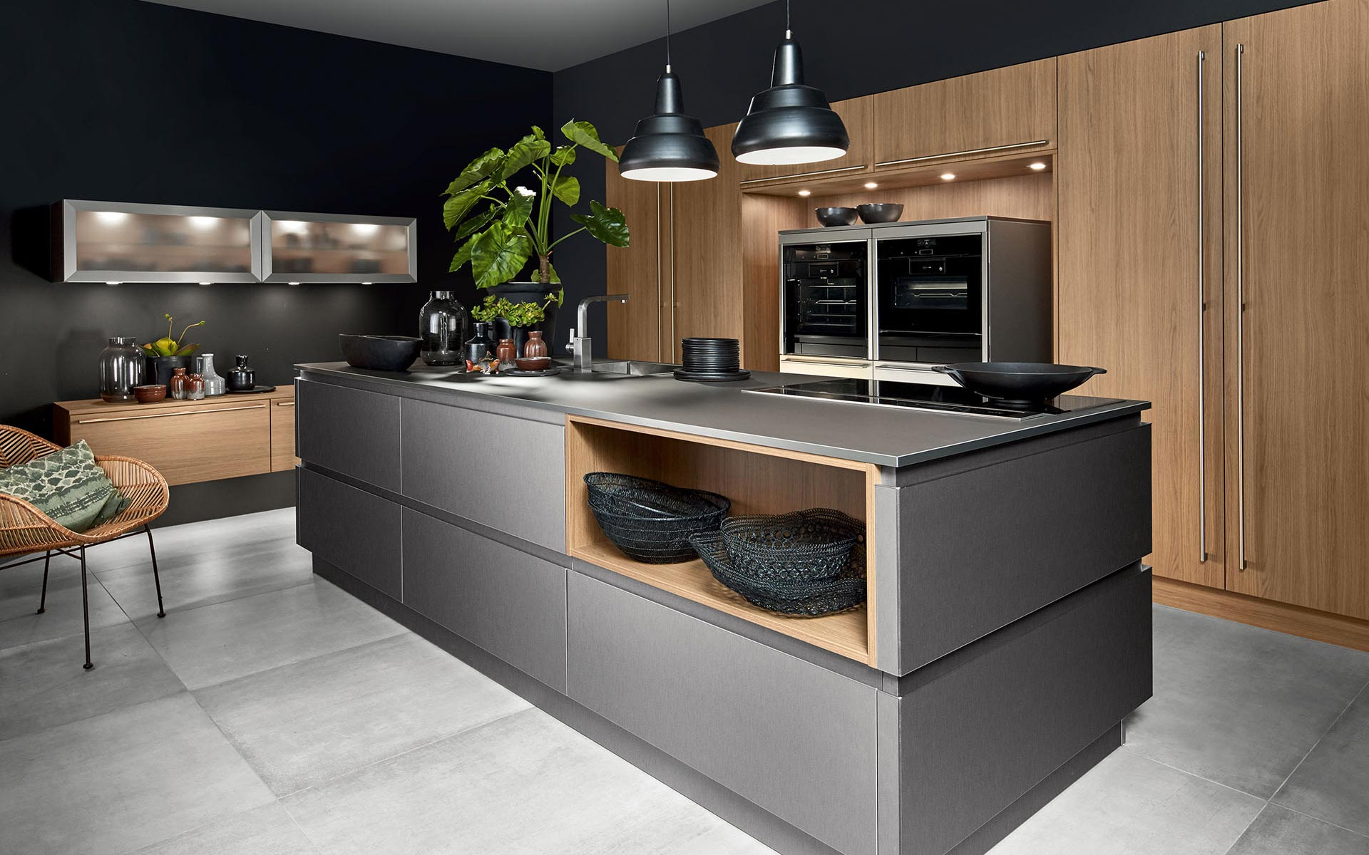 Fenix Steel V Inox • Smart V Vicenza Oak Noce