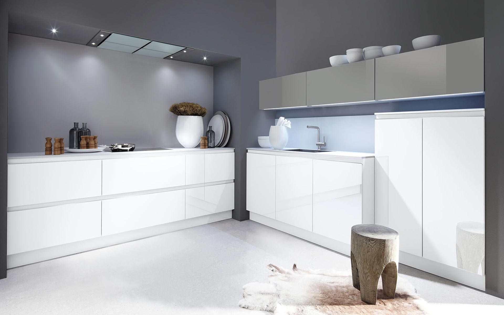 Toronto: Kitchens from Germany, Europe. Luce Colored Onyxgrau • Luce Optiwhite