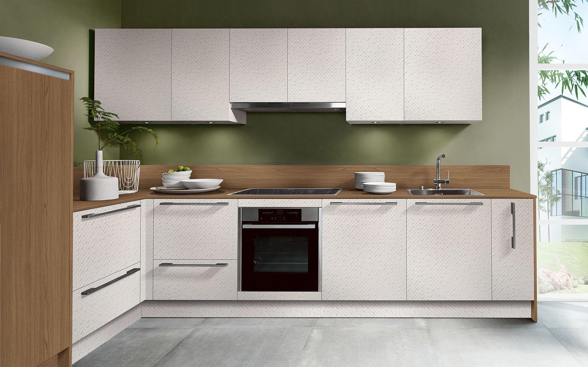 Mosaico Bianco • Smart Vicenza Oak Noce