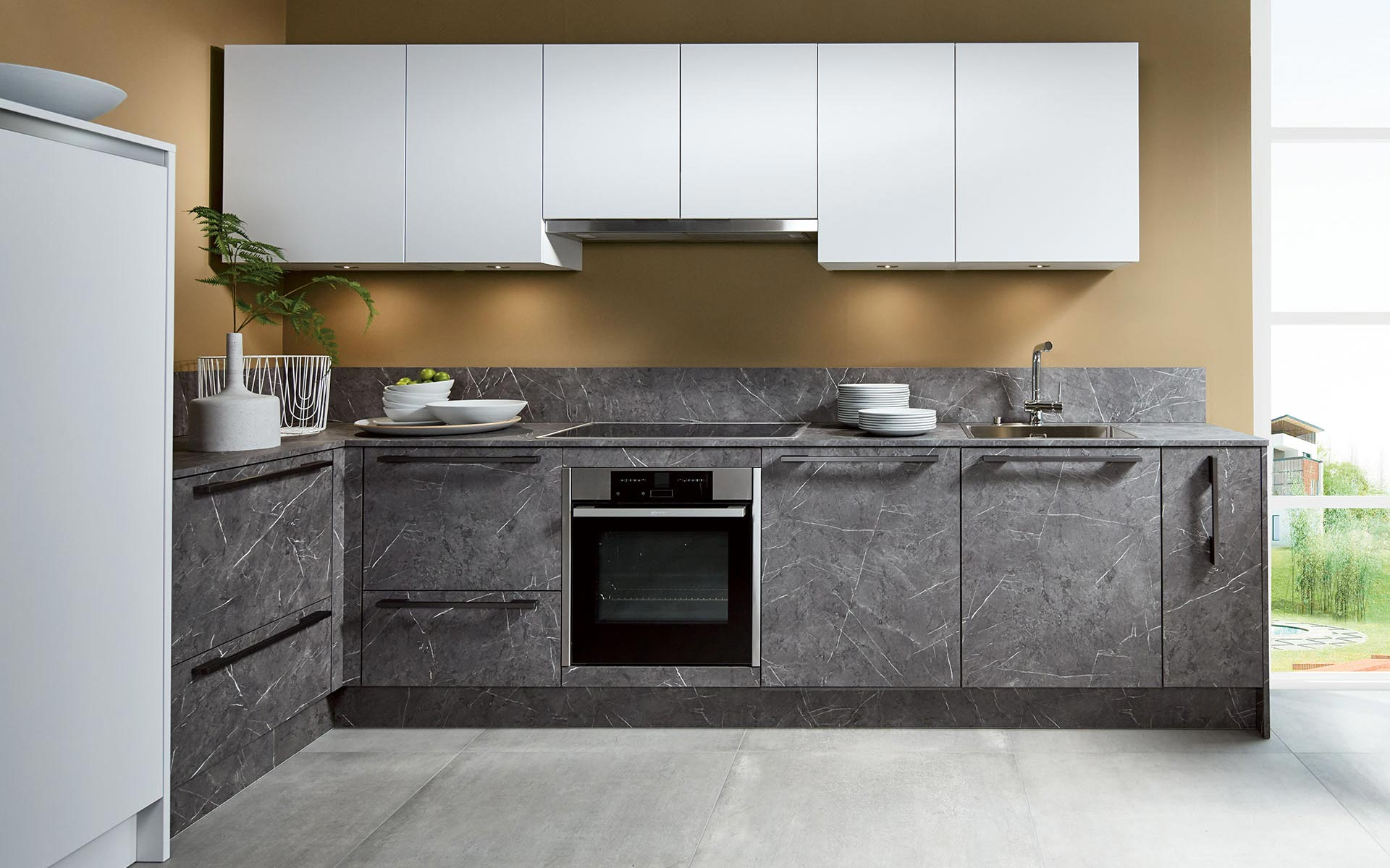 Toronto: Kitchens from Germany, Europe. Opaco Grigio • Marble Anthrazit