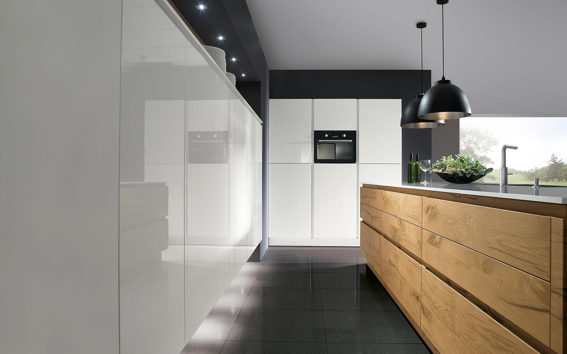 Toronto: Kitchens from Germany, Europe. Passion Snow • Split-Oak H Anticato Natur