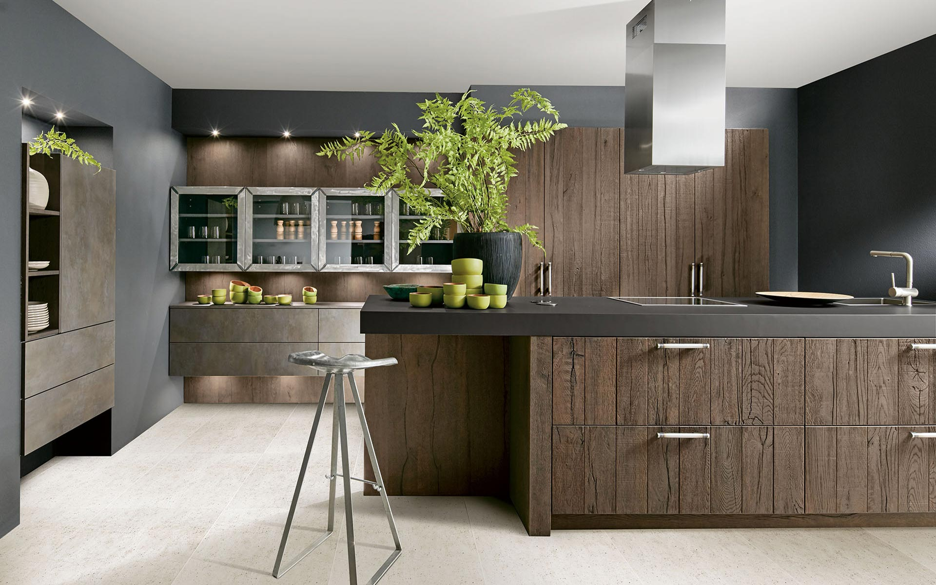 Toronto: Kitchens from Germany, Europe. Rough R15 Anticato Pastell Loam • Cemento Bronze
