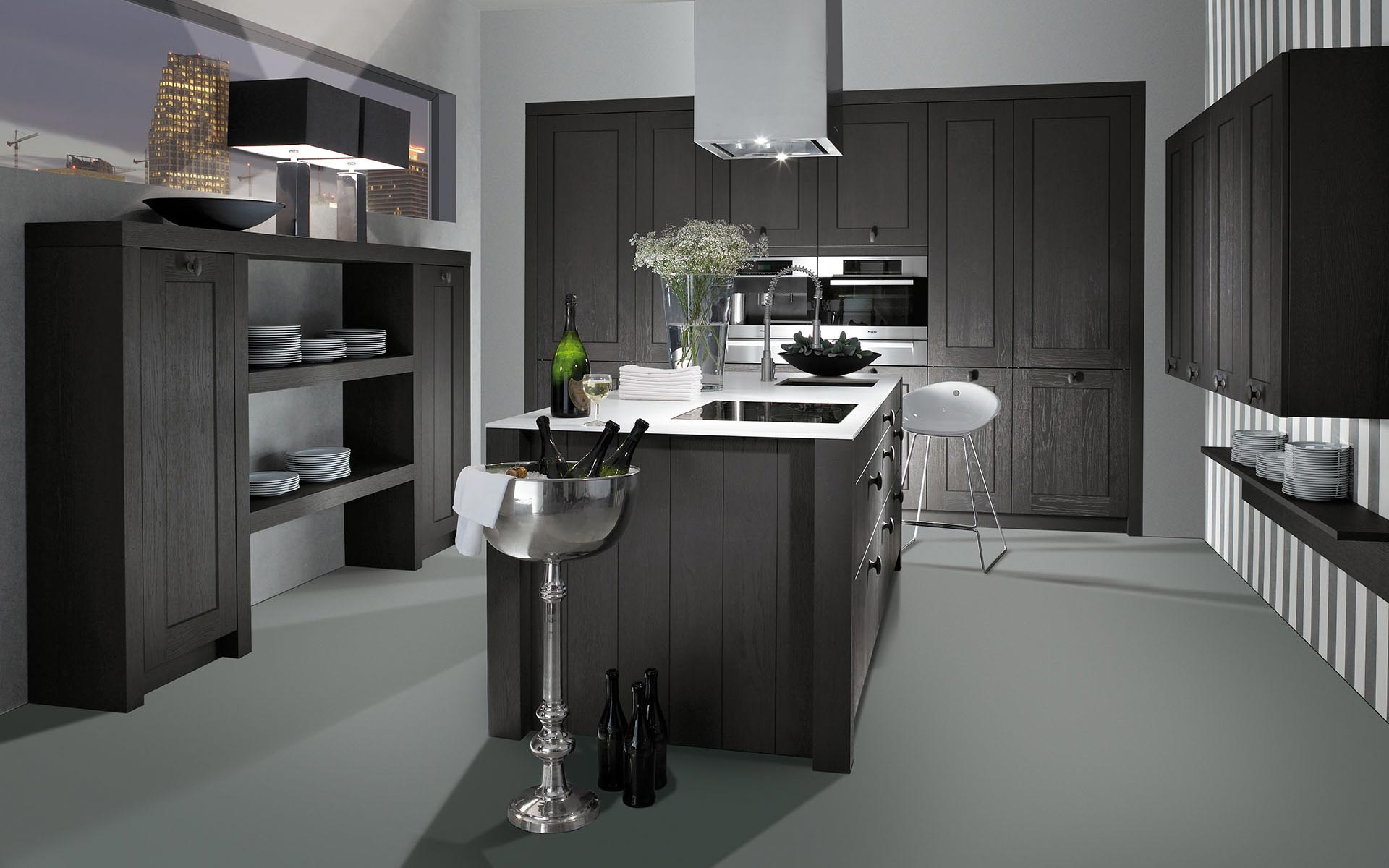 Toronto: Kitchens from Germany, Europe. Telaio Anticato Graphit