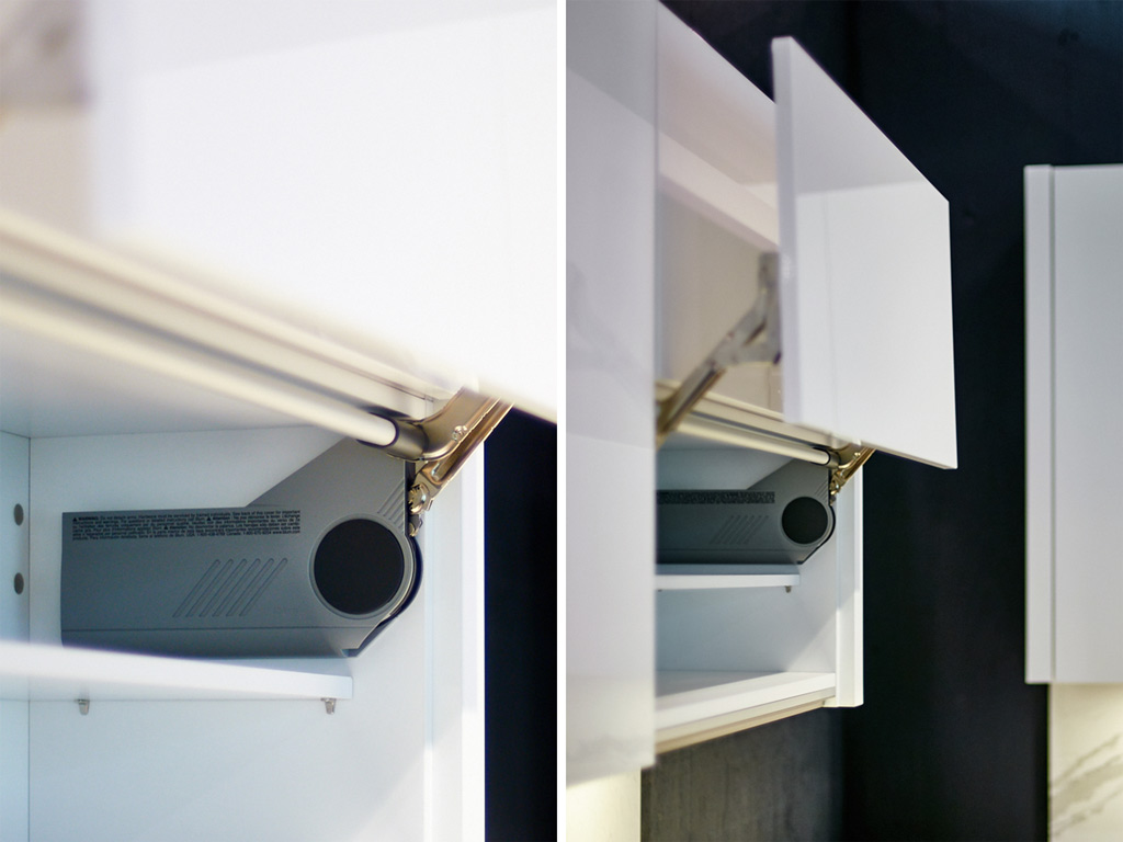 Modern Plus company, Flap fittings with integrated damping