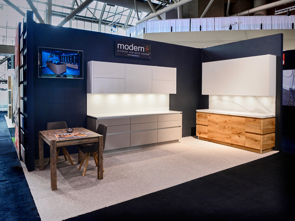 Modern Plus company had a large stand in the 2018 Toronto Interior Design Show.