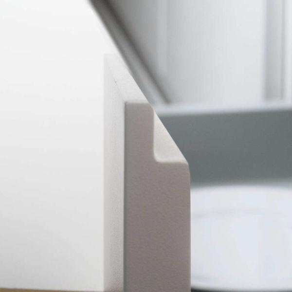 Off-white handleless door. GLX 90