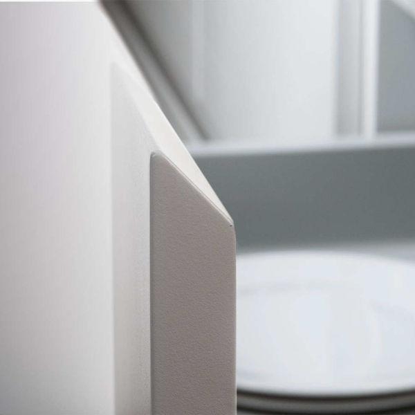 White handleless door. GLV 45