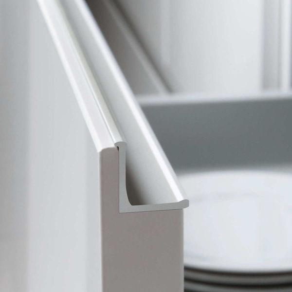 White handleless door. GLX-E