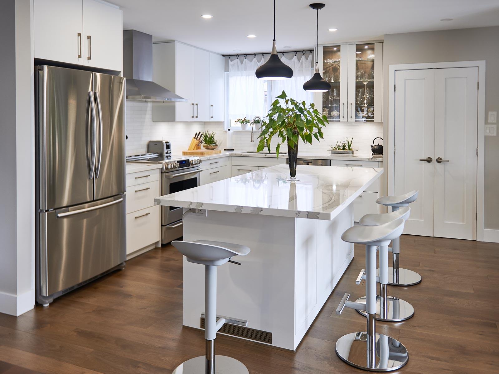Satin Matte White Kitchen In Toronto Modern Plus